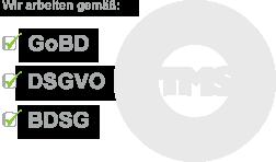 Wir arbeiten gemäss GoBD, DSGVO, BDSG